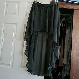 Forever 21 high/low skirt